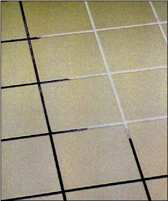 Rengöring av kakelfogar i badrum